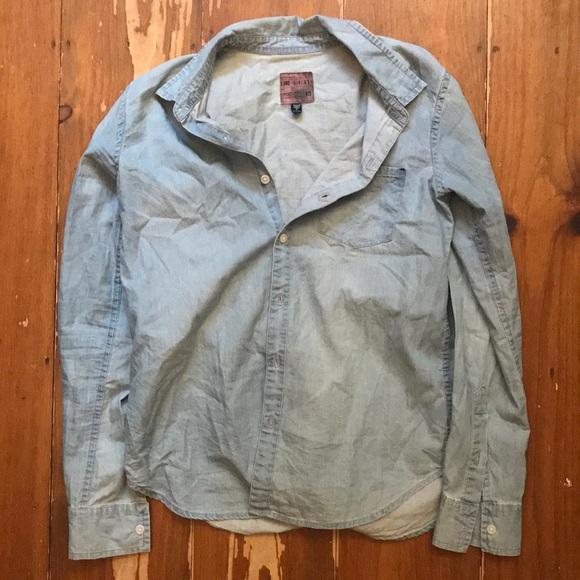 The Shirt by Rochelle Behrens Tops - The Shirt denim button up women's small
